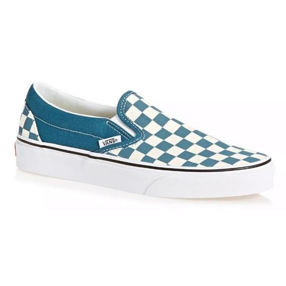 Vans Slip On Checker Corsair Blue Wt